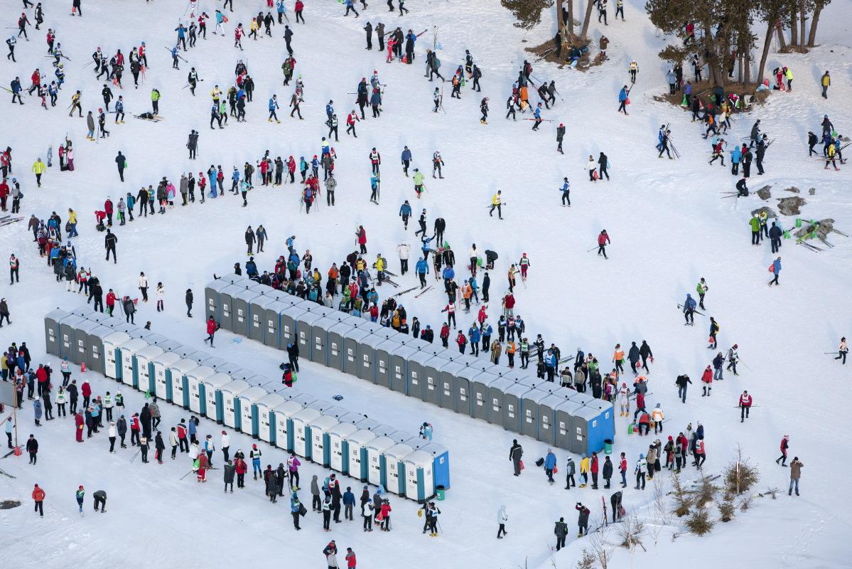 Aerial Engadin Skimarathon Fotografie Alessandro Della Bella